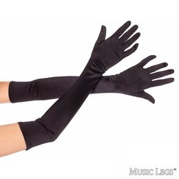 Music Legs Extra Long Satin Gloves