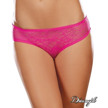 Dreamgirl Dreamgirl Ruffled Fun Crotchless Panty