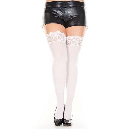 Music Legs Music Legs Lace Top Opaque Thigh Hi Queen OS