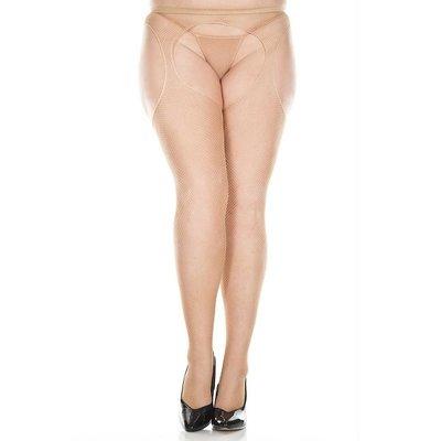 Music Legs Fishnet Suspender Pantyhose Queen OS