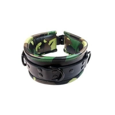 Rouge Leather Padded Collar Black & Camo