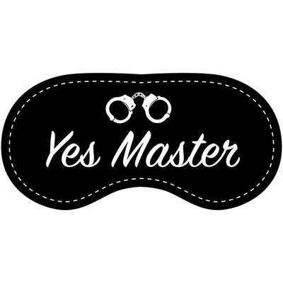 Eye Chatters Satin Blindfold - Yes Master