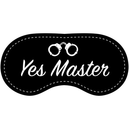 Eye Chatters Eye Chatters Satin Blindfold - Yes Master