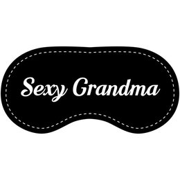 Eye Chatters Satin Blindfold - Sexy Grandma