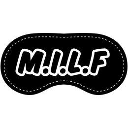 Eye Chatters Satin Blindfold - M.I.L.F.