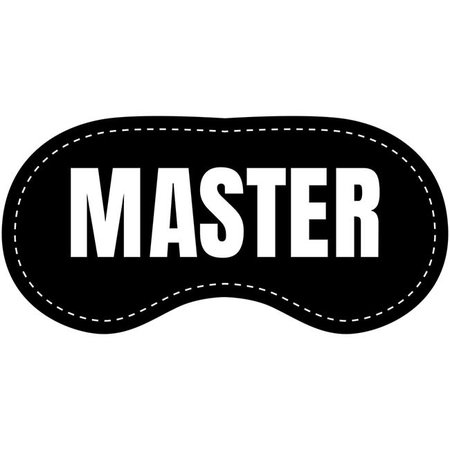Eye Chatters Eye Chatters Satin Blindfold - Master