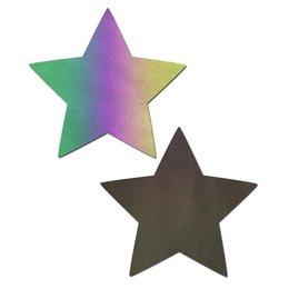 Pastease Reflective Rainbow Star Nipple Pasties