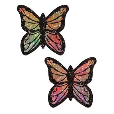 Pastease Glitter Rainbow Butterfly Nipple Pasties