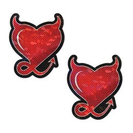 Pastease Red Devil Heart Nipple Pasties