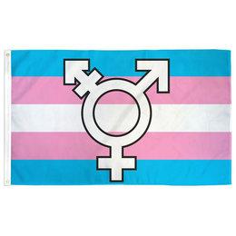 Transgender Symbol Pride Flag 3ft x 5ft
