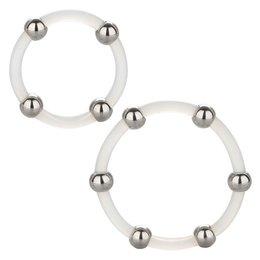 CalExotics Steel Beaded Silicone Ring Set