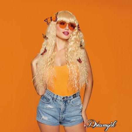 Dreamgirl Dreamgirl Extra Long Blonde Beach Wave Wig