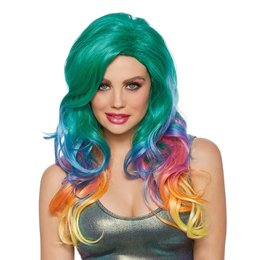 Dreamgirl Jewel Tone Rainbow Wig