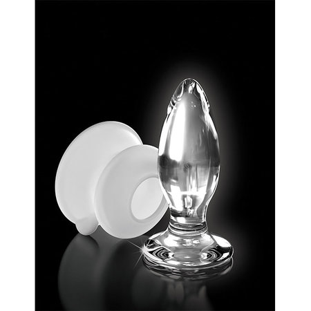 Icicles Icicles No. 91 Glass Anal Plug with Silicone Suction Cup