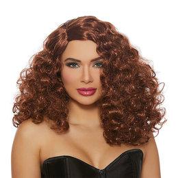 Dreamgirl Full Curly Auburn Wig