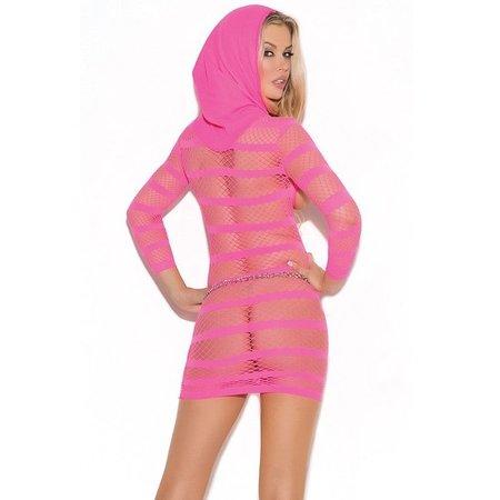 Elegant Moments Elegant Moments Cupless Mini Dress with Hood Pink OS