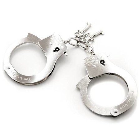 Lovehoney Fifty Shades of Grey You Are Mine Metal Handcuffs