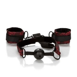 CalExotics Scandal Breathable Ball Gag with Cuffs
