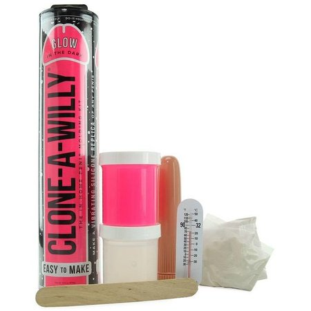 Clone-A-Willy Clone-A-Willy Vibrator Kit - Glow-in-the-Dark Pink