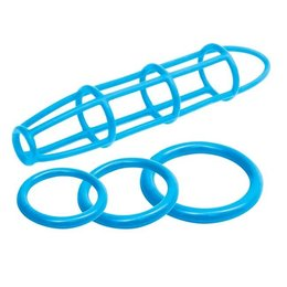 Pipedream Neon Silicone Cage & Love Ring Set
