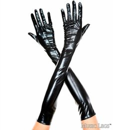 Music Legs Extra Long Metallic Gloves
