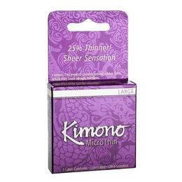 Kimono MicroThin Large Condom 3 Pack