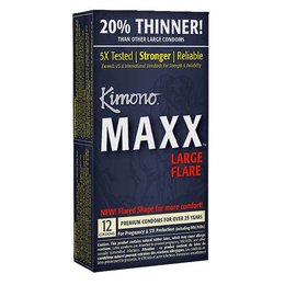 Kimono Maxx Large Flare Condom 12 Pack