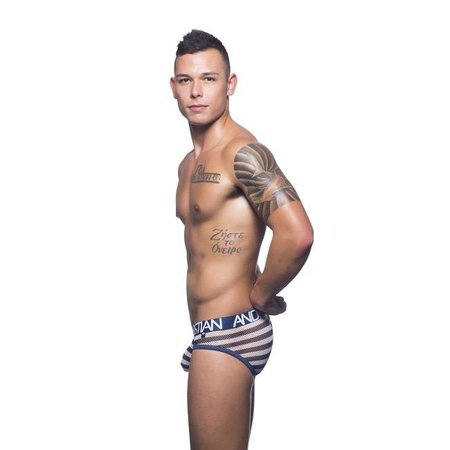 Andrew Christian Nautical Net Brief with Almost Naked
