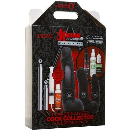 Doc Johnson KINK - Power Banger Cock Collector Accessory Pack - 10 Piece Kit