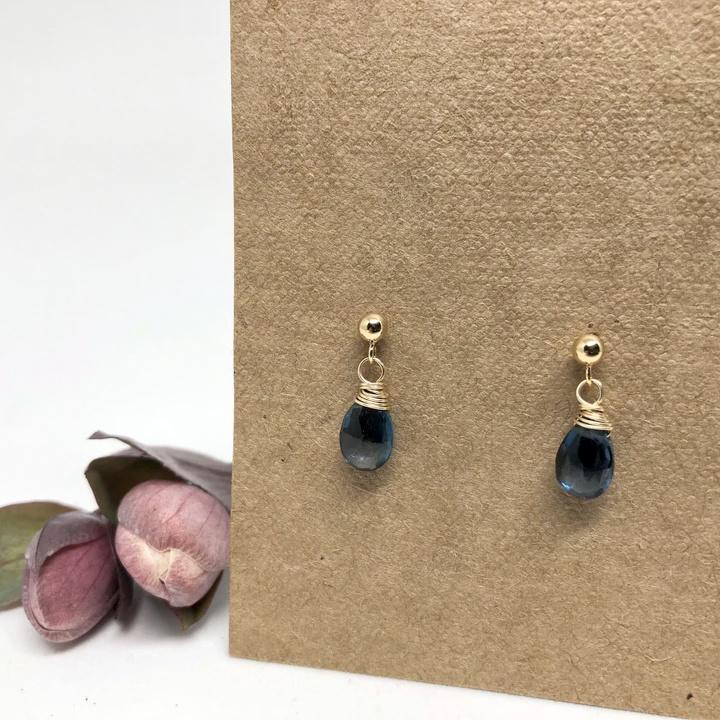 Naked Sage London Topaz Linnaea Earrings