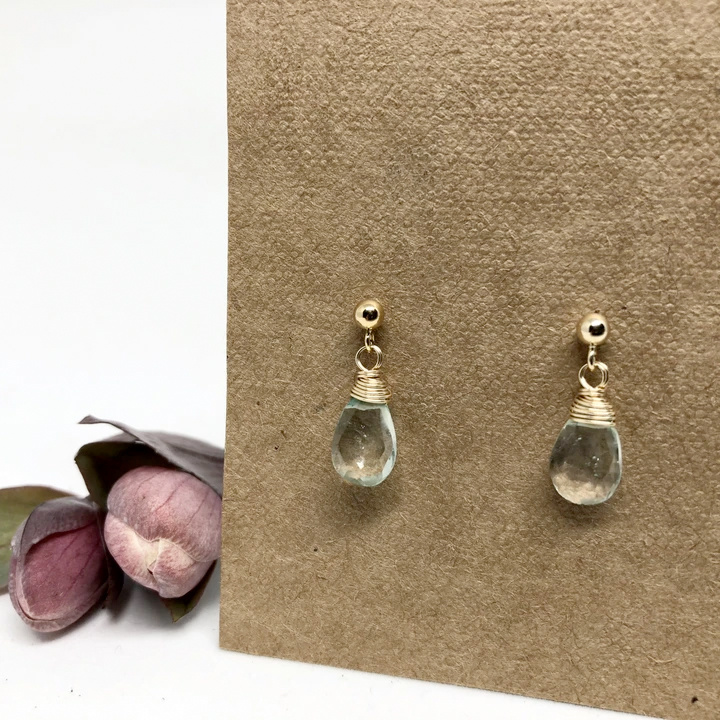 Naked Sage Green Amethyst Linnaea Earrings