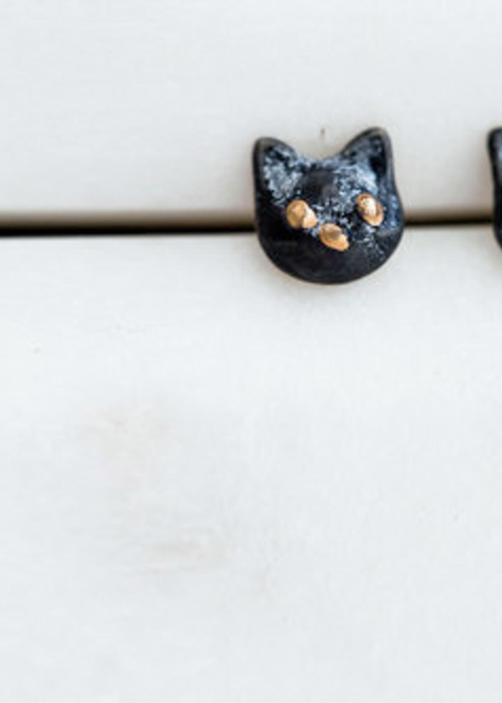 Slade Goods Slade - Black Kitty Studs