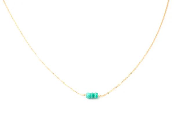 May Martin Three Bead Necklace