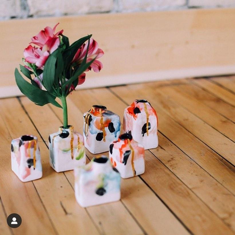 Meg Does Pottery Wabi Sabi Stem Vase