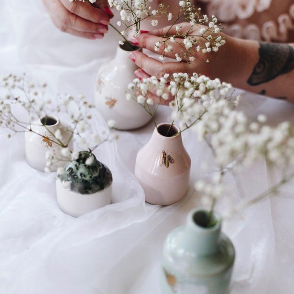 Meg Does Pottery Bee Vase
