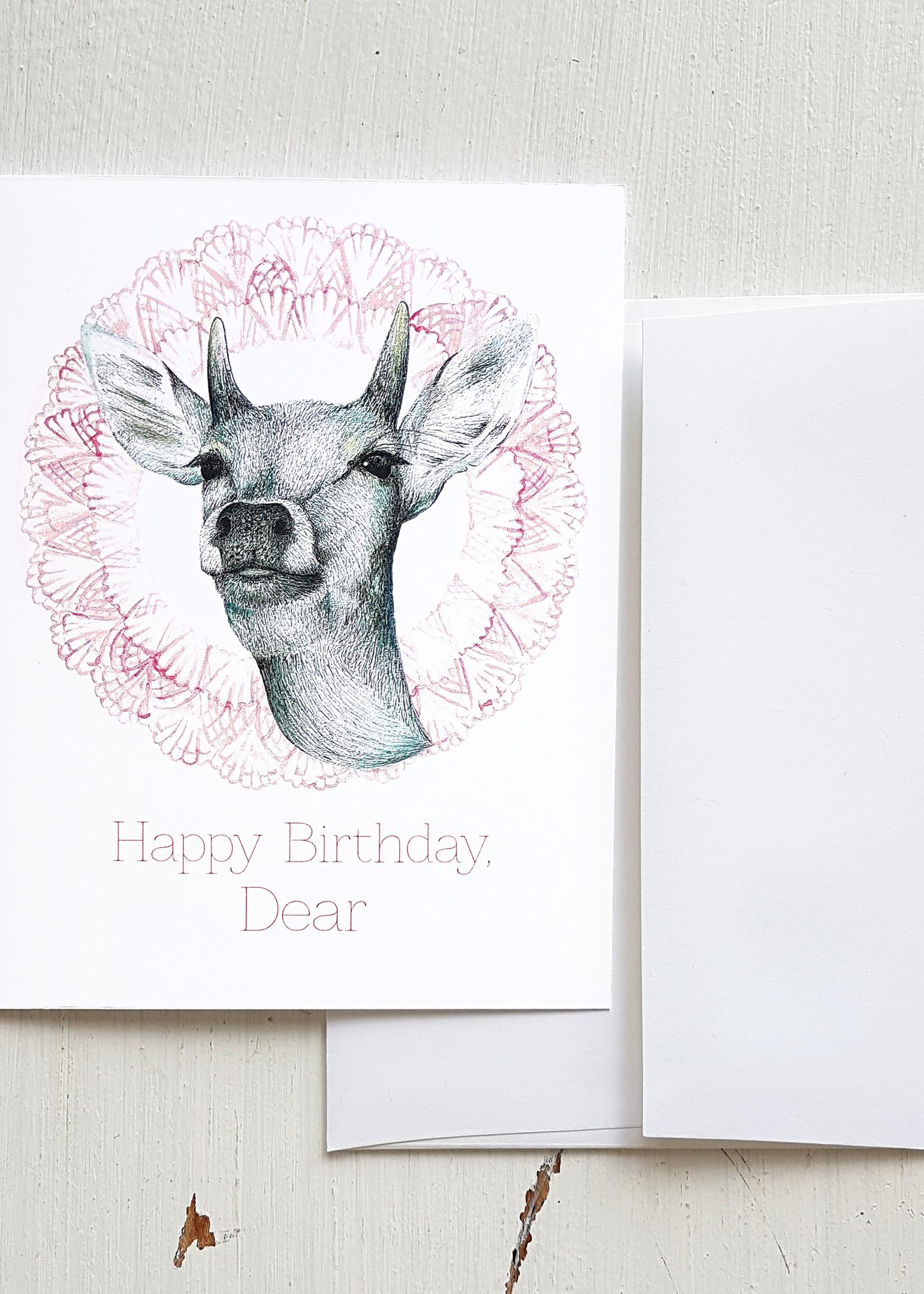 Hello Yellow Canary - Happy Birthday Dear Small Card