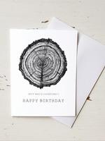 Tree Rings Happy Birthday Card