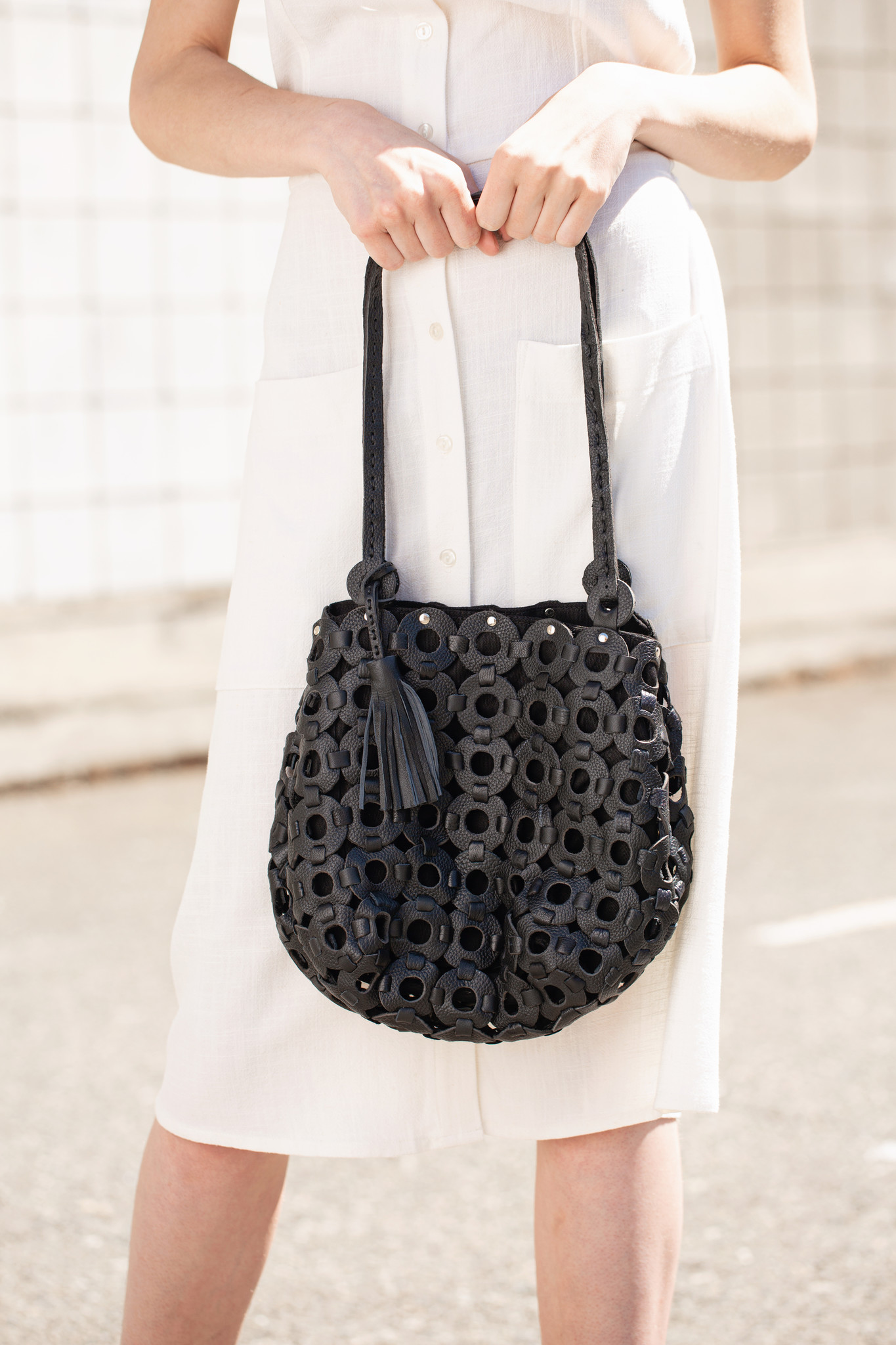 Leather Circle  Bag