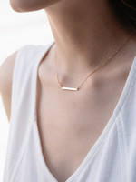 May Martin Petite Gold Bar Necklace