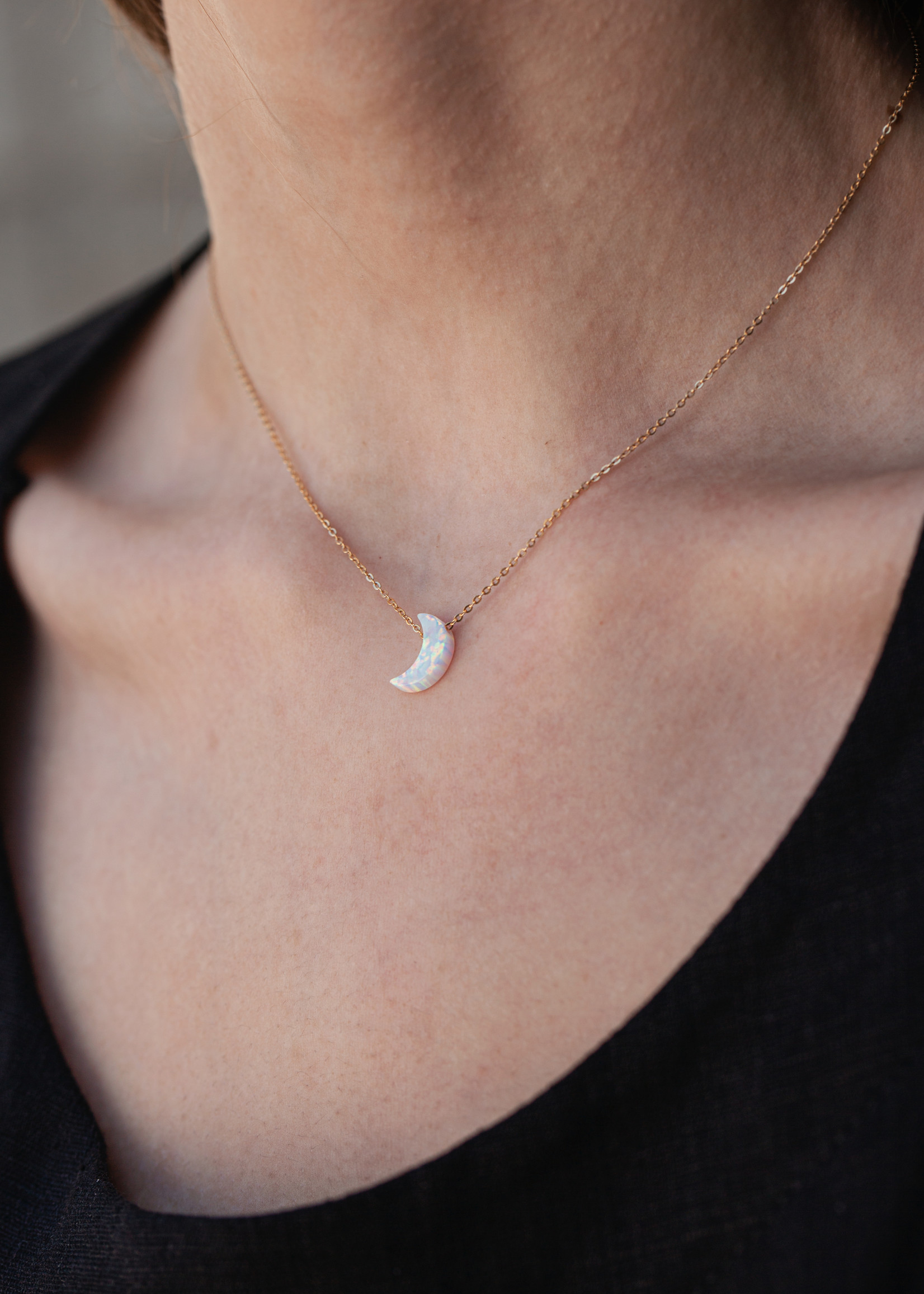 May Martin May Martin - Moon Opalite Necklace