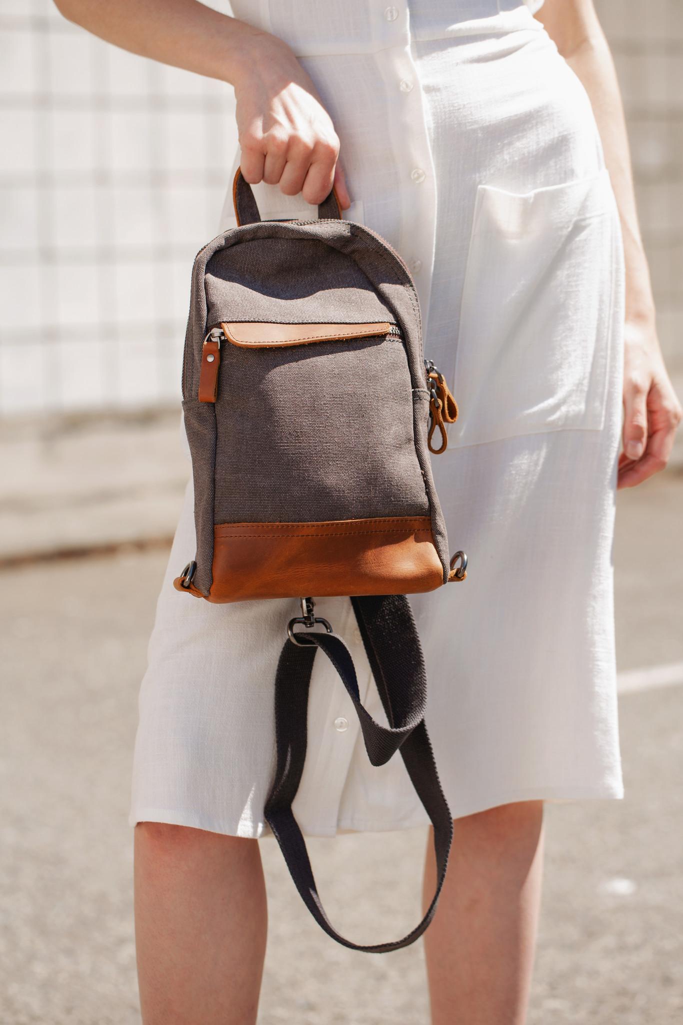Charcoal Mini Backpack
