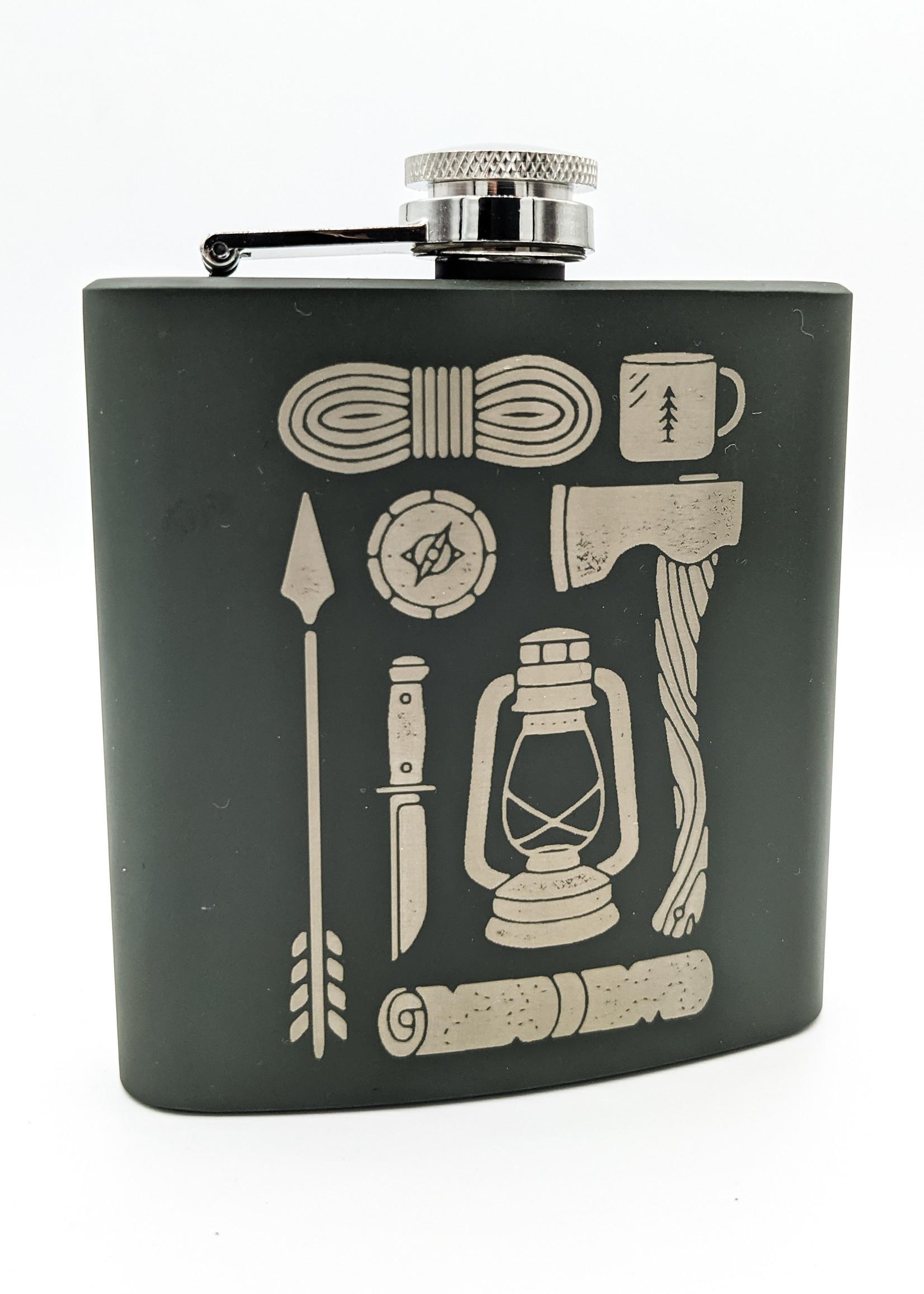 Moonshine Dreams - Axe + Lantern Flask Green