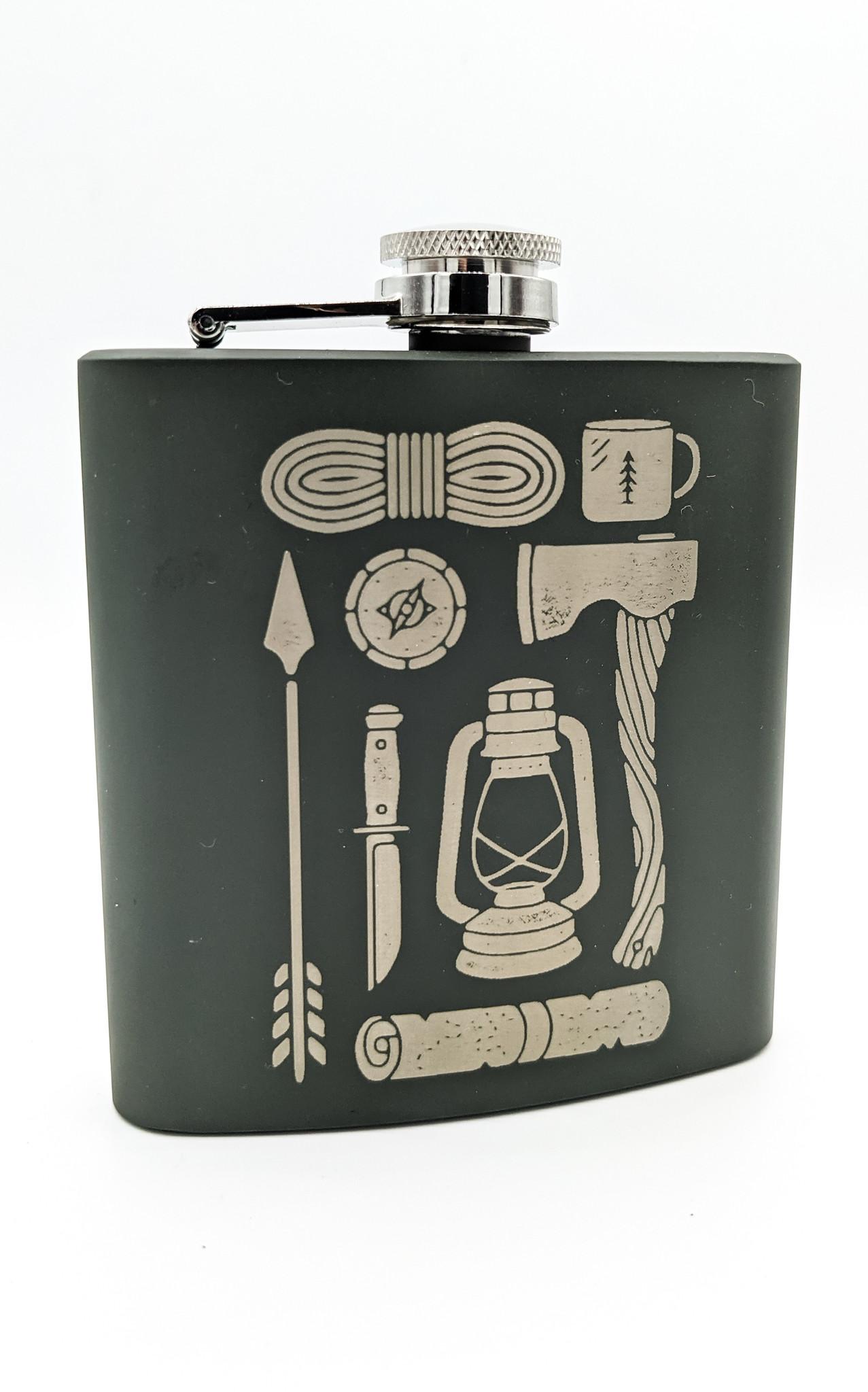 Axe + Lantern Flask Green