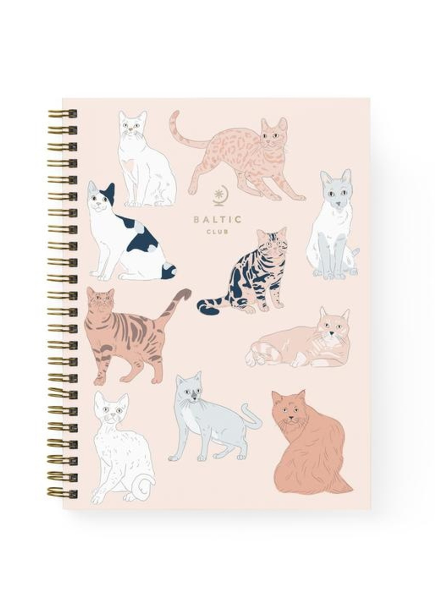 Baltic Club Baltic Club - Cat Spiral Notebook
