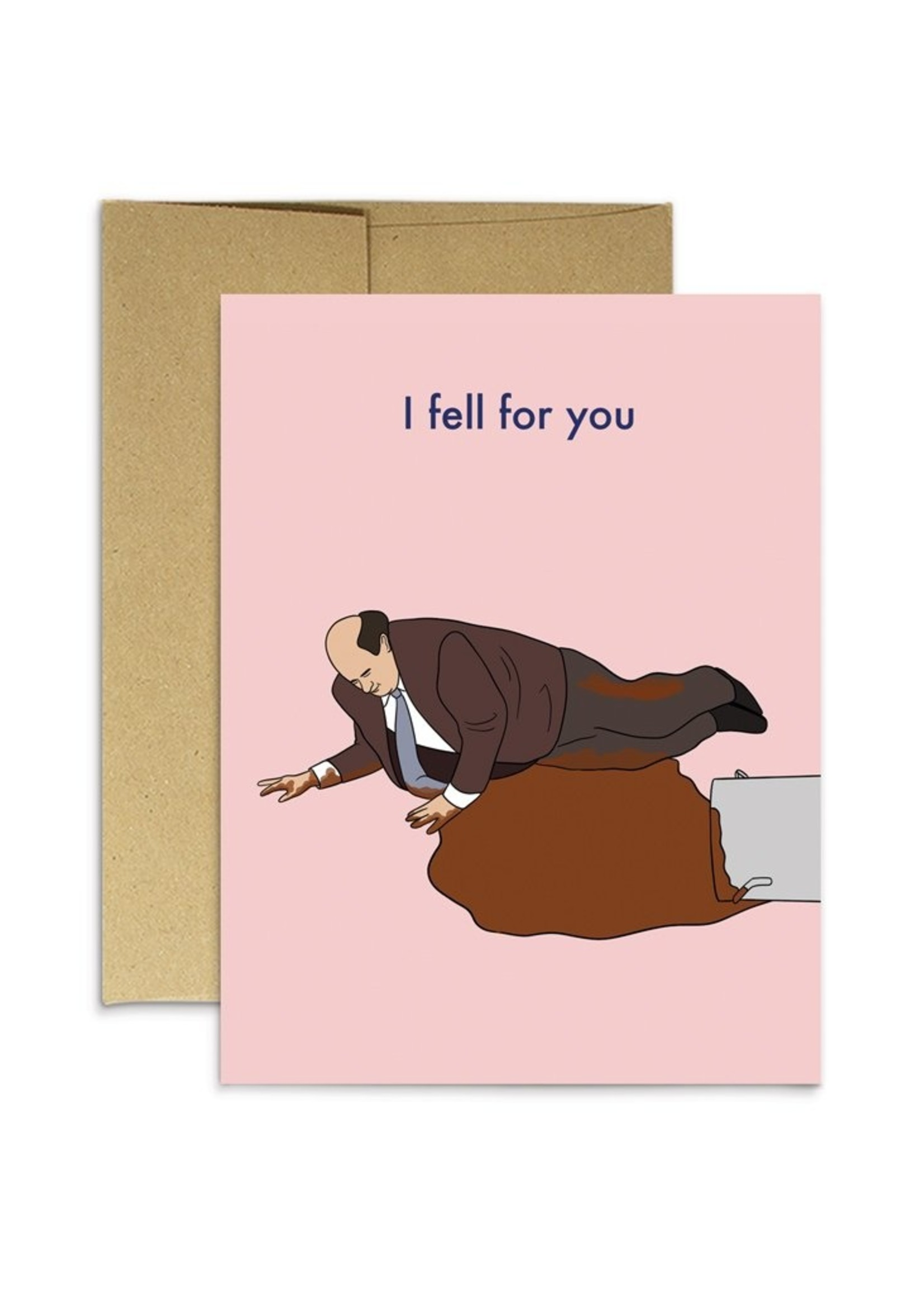 Party Mountain Paper co. Party Mountain - Kevin Fell For You Card