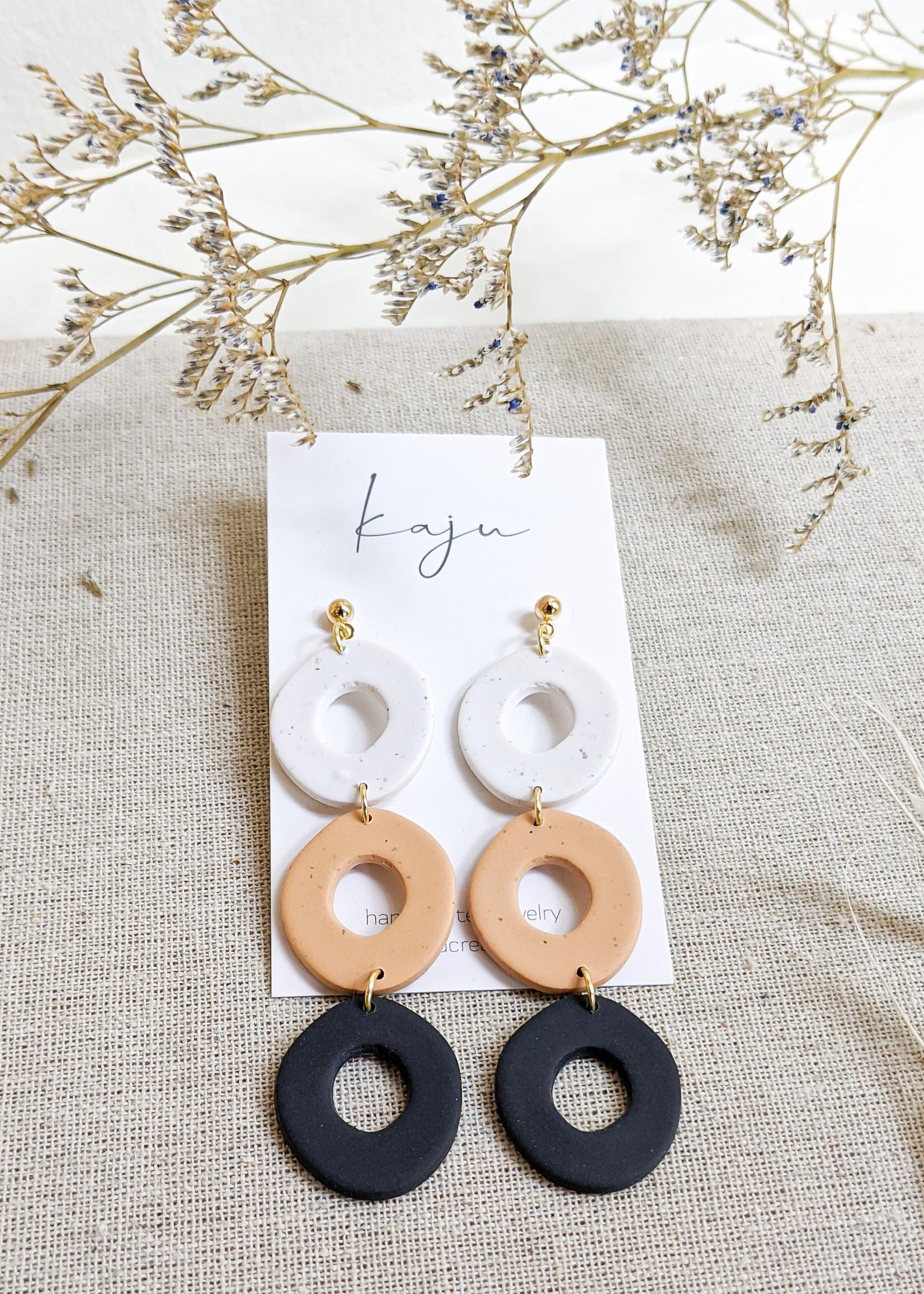 Kaju Jewerly Creations Kaju - Dina Earrings - Desert/Black
