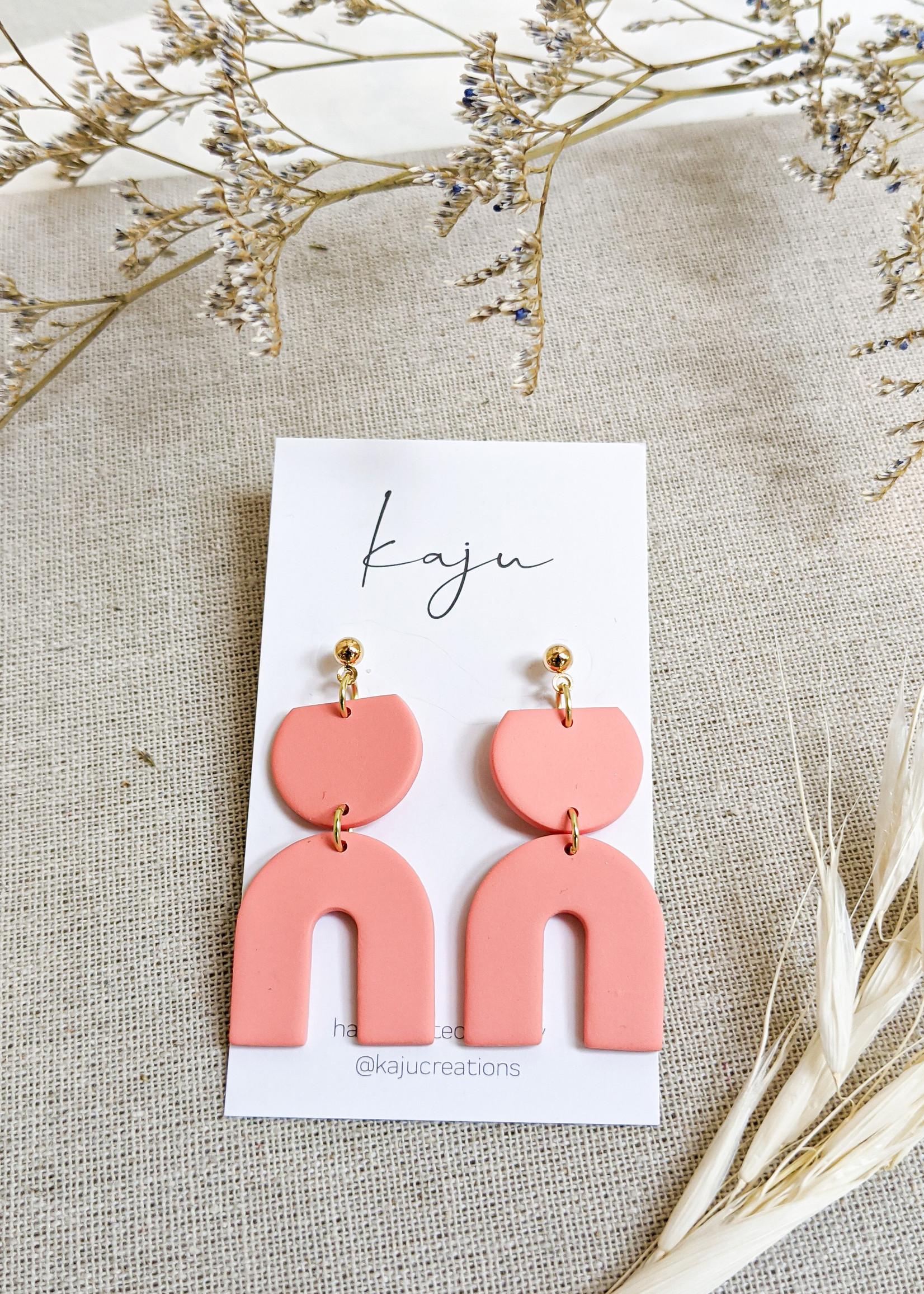 Kaju Jewerly Creations Kaju - Baby Misha Earrings - Coral