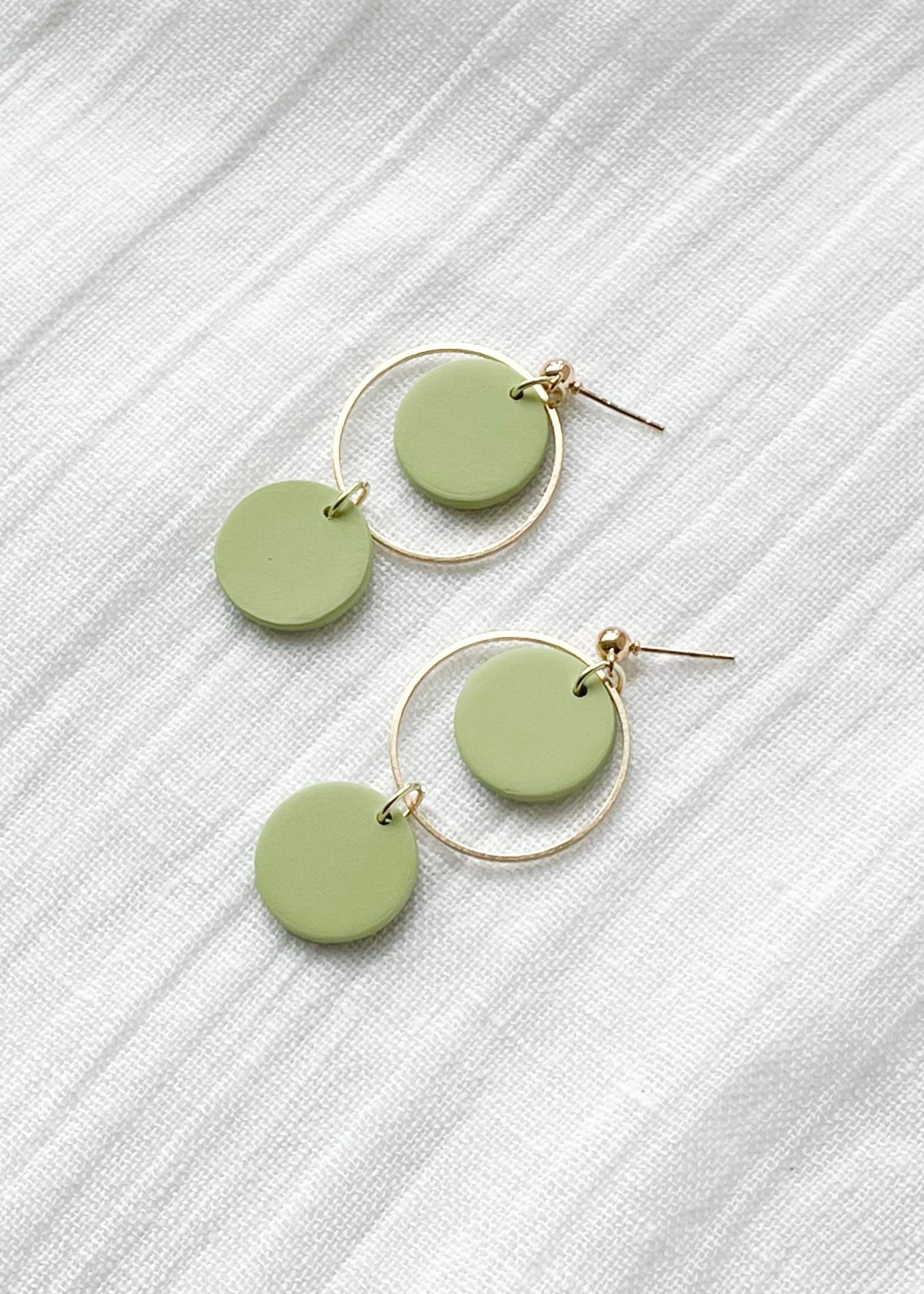 Kaju Jewerly Creations Kaju - Mini Hoops - Lime