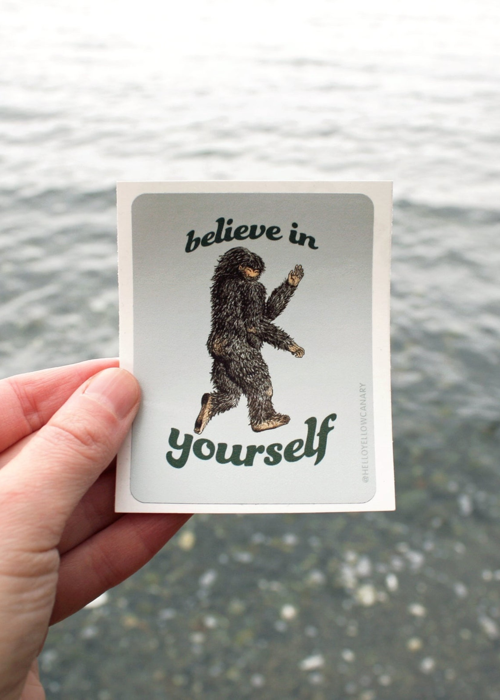 Hello Yellow Canary - Believe In Yourself Sticker