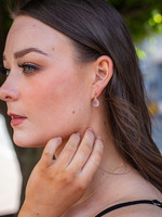 Naked Sage Rose Quartz Linnaea Earrings